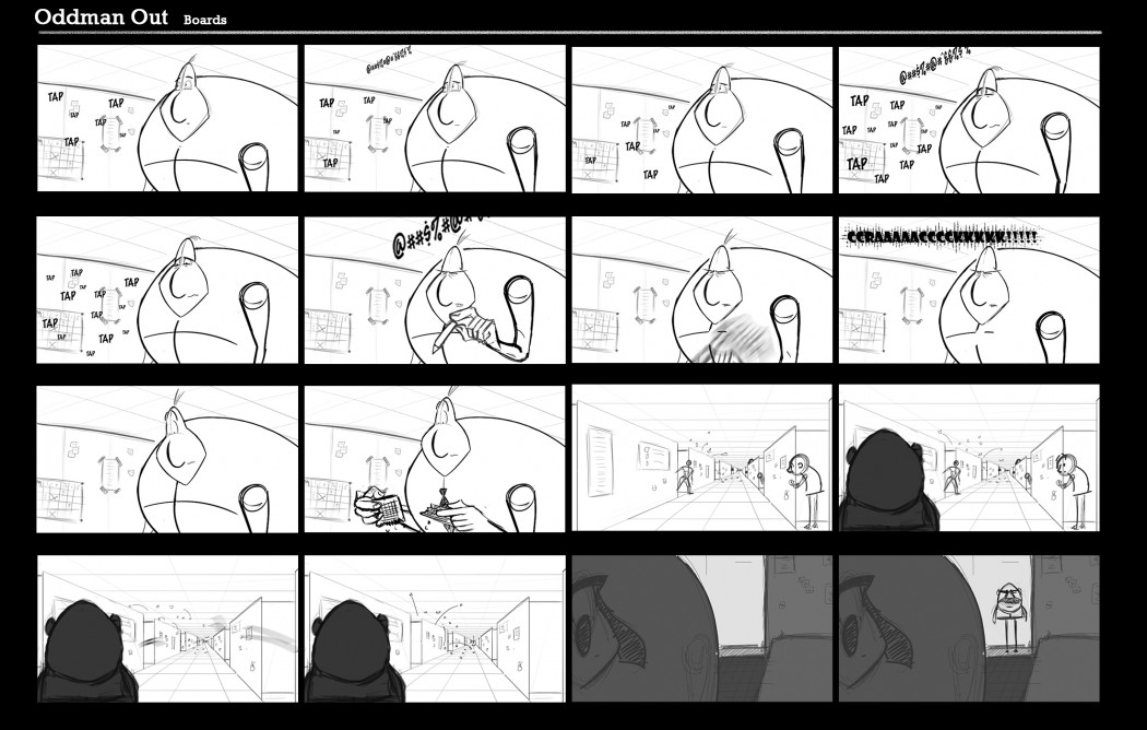 OddMan Out Storyboards